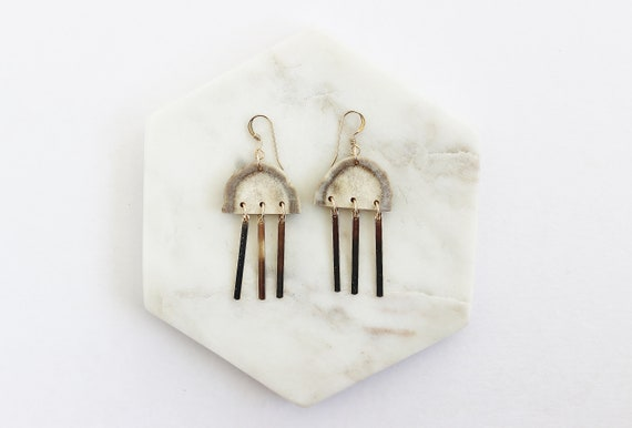 Golden Beam Earrings