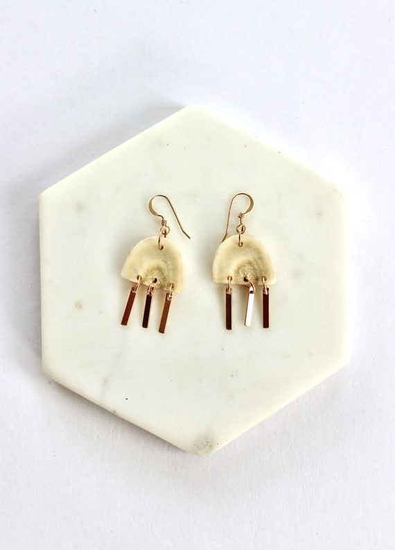 Golden Beam Earrings- Short