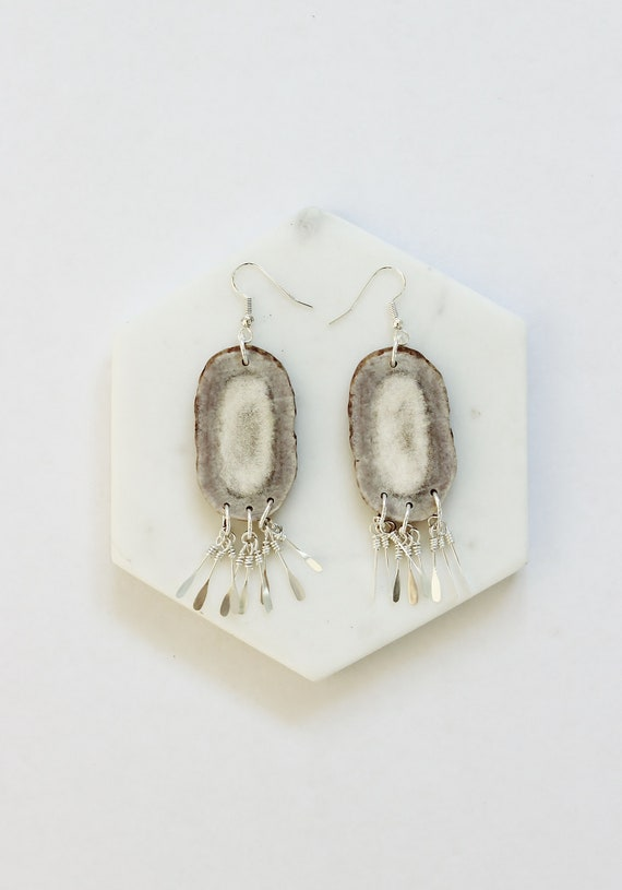 Large Antler Sunburst Earrings II