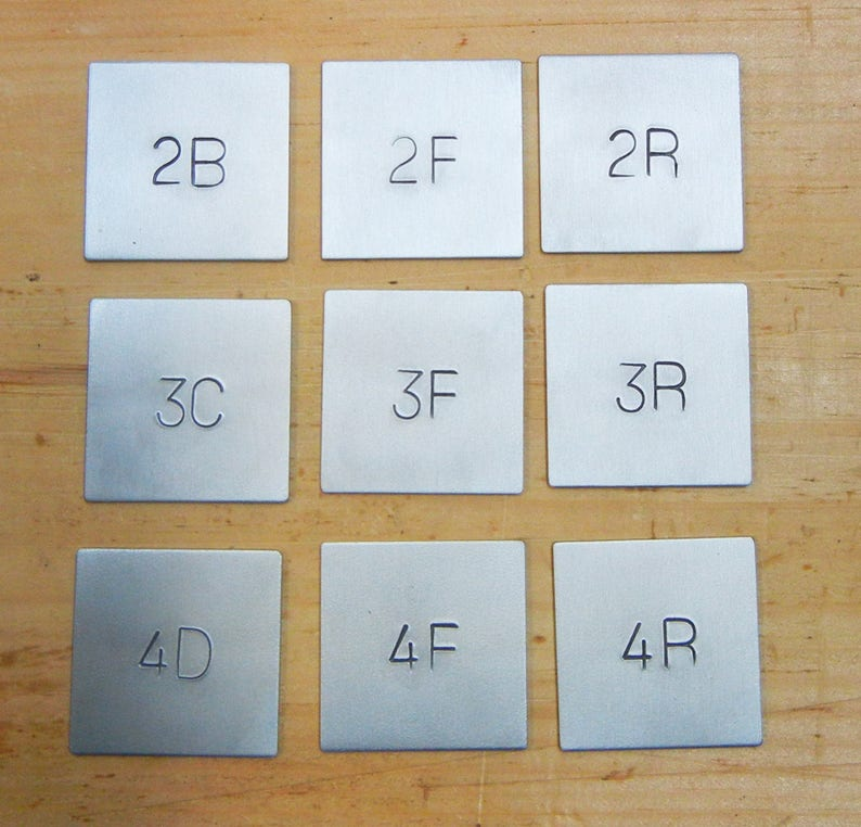 Metal room numbers-Custom number signs image 0