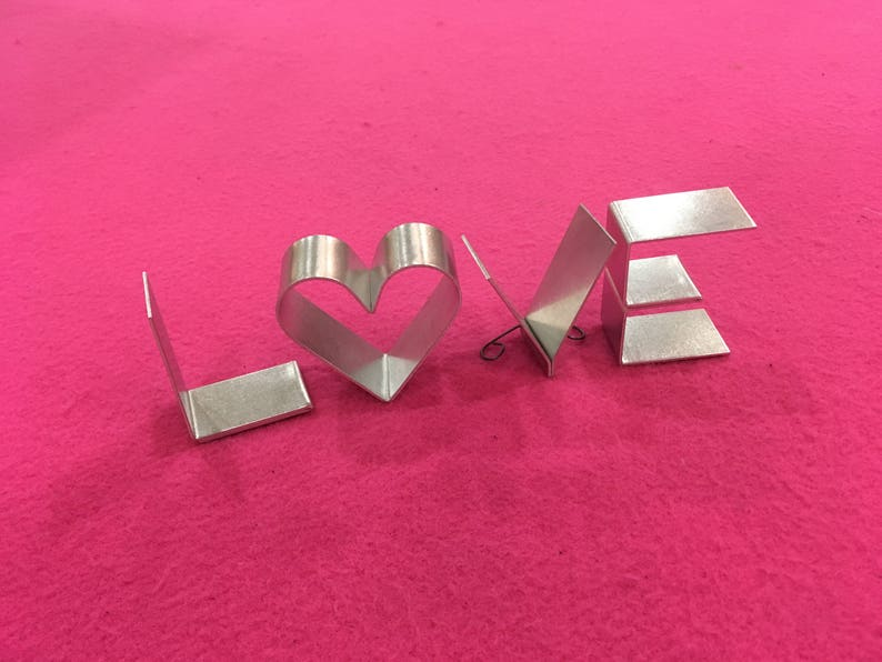 Metal letters freestanding-mini 2 LOVE HOME HOPE with image 0