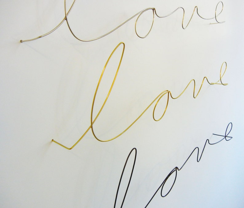 Metal wire word love and custom names/words in new mid size image 0