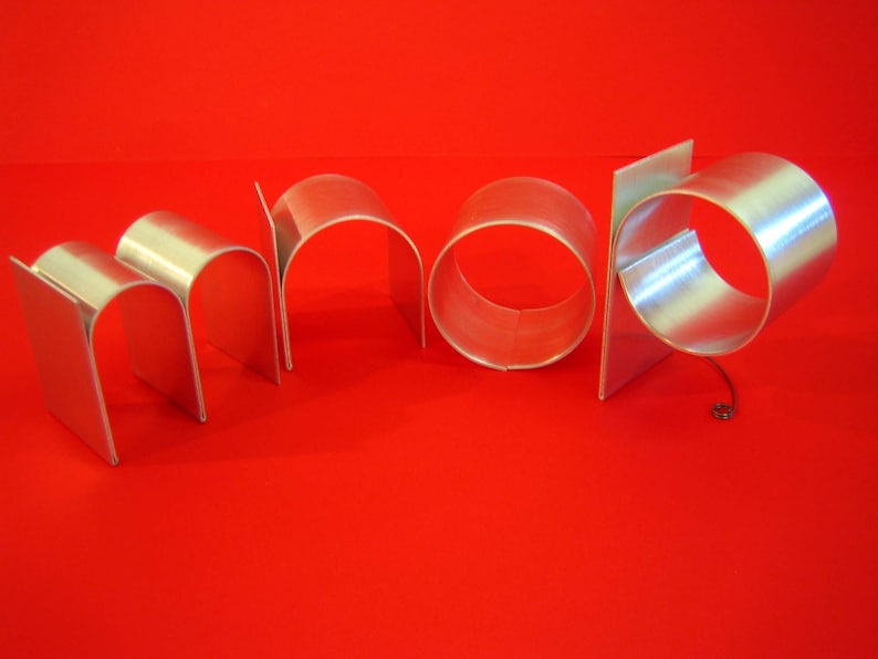 Metal letters/Personalized/ lowercase initials/ freestanding image 0