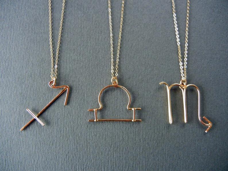 Zodiac sign/Horoscope necklaces image 0