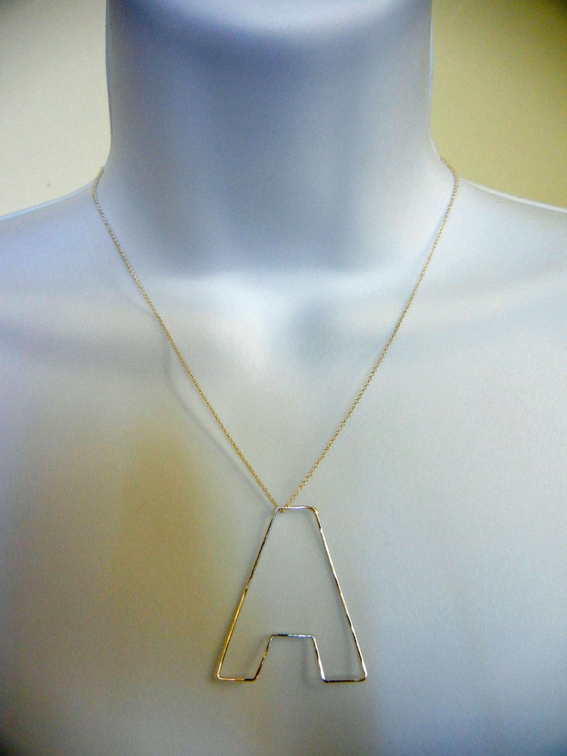 Initial Necklace-Personalization Jewelry-14k Gold filled image 0