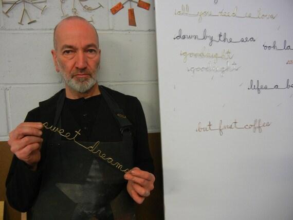 Draht-Metall Wörter-Sätze-Kinderzimmer-Wand-Dekor | Etsy