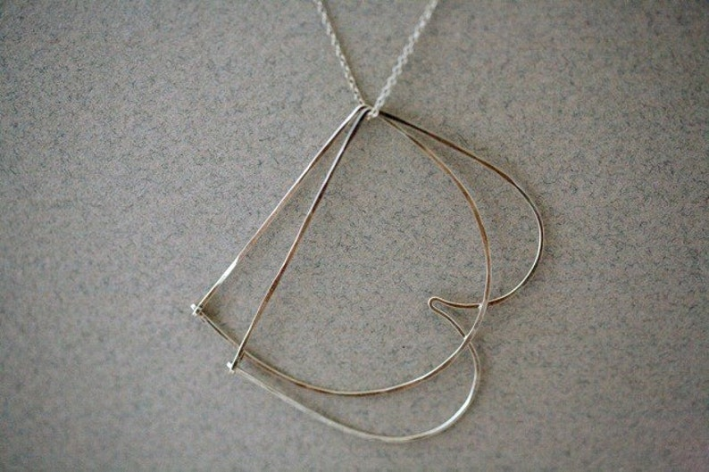 Double initial Necklace in S Silver image 0