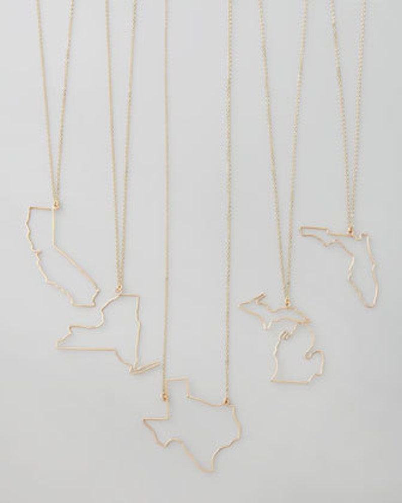 State necklaces All 50 states image 0
