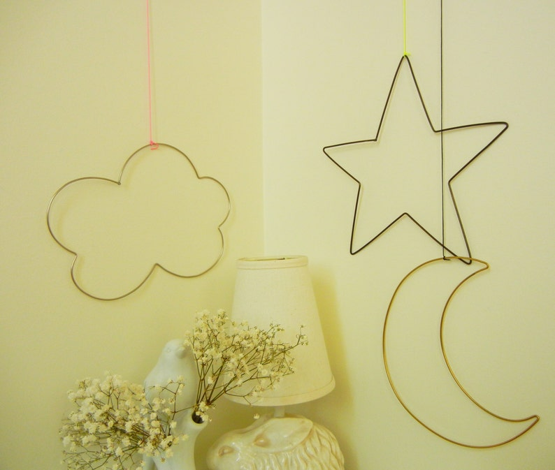 Twinkle Wire wall Ornaments for baby nursery in letters and image 0