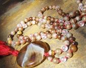 Agate Mala, Bronzite Mala, Quartz Mala, Prayer Beads, Japa Mala