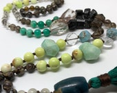Gemstone Mala, Yoga Mala, Mala Beads, Prayer Beads, Yoga Necklace
