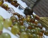 Green Garnet Mala, Green ...