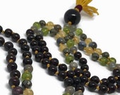 Prosperity Mala / Labradorite Mala / Peridot Mala / Citrine  Mala / Garnet Mala / Pyrite Mala / Red / Gold / Green / Rainbow / Yoga Necklace