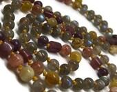 Labradorite Mala Beads Necklace, Lepidolite Mala, Tourmaline Mala, Sunstone Mala, Golden Opal Mala, Prayer Beads, Yoga Necklace, Meditation