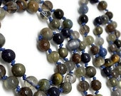 108 Bead Yoga Mala Necklace for Meditation | Mala Beads for Man or Woman | Unisex Spiritual Gift | Yoga and Meditation | Blue Japa Mala |