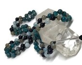 Aquamarine Mala / Apatite Mala / Labradorite Mala / Quartz Mala / Blue Goldstone / Mala Beads Necklace / Japa / Yoga / Meditation / 108