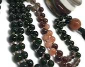 Jade Mala Beads | Sunstone Mala Beads | Smoky Quartz Mala Beads | Hessonite Garnet Mala Beads | Mala Necklace | Green Mala | Love Mala |