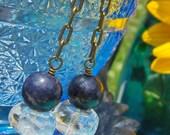 Sapphire Earrings, Quartz...