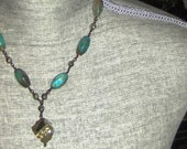 Turquoise Necklace, Pyrite Necklace