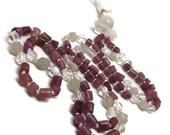 Pink Tourmaline Mala Necklace for Heart Chakra and Love / Moonstone Mala / Quartz Necklace / Moonstone Necklace / Japa / Kundalini / Yoga