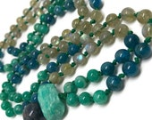 Amazonite Mala, Apatite Mala, Labradorite Mala, Mala Beads, Yoga Jewelry, Prayer Beads, Green Mala, Teal Mala, Aqua Mala, Blue Mala, Yoga
