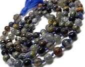 Gemstone Yoga Bead Mala for Meditation and Prayer   Mala Necklace for Man or Woman   Unisex Gift   Yoga and Meditation   Blue Japa Mala  