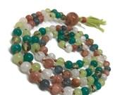 Heart Chakra Mala, Moonstone Mala, Prehnite Mala, Amazonite Mala, Onyx Mala, Sunstone Mala, Kyanite Mala, Green Mala, Love Mala, 108 Beads