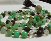 Chrysoprase Mala, Bronzite Mala, Moonstone mala, Rainbow Moonstone, Yoga Beads, Meditation Beads, Kundalini, Prayer Beads, Yoga Necklace