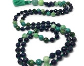Dumortierite Mala, Amazonite Mala, Chrome Diopside Mala, Turquoise Mala, Blue Mala, Green Mala, Japa Mala, Prayer Beads, Gemstone Mala Beads