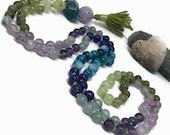 Amethyst Mala Necklace / Apatite Mala / Lapis Lazuli Mala / Blue Calcite Mala / Green Onyx Mala / Green Garnet Mala / Jade Mala / Ombre Mala