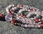 Rose Quartz Mala, Ruby Mala, Green Phantom Quartz, Strawberry Quartz Mala, Pink Mala, Japa Mala, Kundalini Yoga, Mindfulness, Gift, Yoga