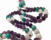 Amethyst Mala, Amazonite Mala, Rainbow Moonstone Mala, Purple, Purple Mala, Ultra Violet, Spring, 2018, Prayer Beads, Yoga, Mala Beads