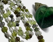 Spring Green Mala, Moonstone Mala, Green Garnet Mala, Onyx Mala, Prehnite Mala, Smoky Phantom and Tourmalinated Quartz