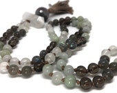 Labradorite Mala Beads Necklace | Jade Mala | Selenite Mala | Mala Necklace | Smoky Quartz Mala Beads | Japa | Prayer Beads | Botswana Agate