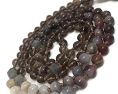 Smoky Quartz Mala Beads Necklace, Botswana Agate Mala Beads Necklace, Labradorite Mala Beads Necklace, Gemstone Necklace, Meditation, Yoga,