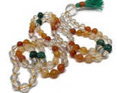 Carnelian Mala / Turquoise Mala / Chakra / Quartz Mala / Orange Mala / Yoga Necklace / Mala Beads / Japa / Meditation / Boho / Beads / Gift