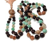 Sunstone Mala, Amazonite Mala, Rutilated Quartz Mala, Garnet Mala, Japa, Yoga Meditation Mindfulness