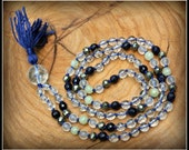 Quartz Mala, Blue Goldstone Mala, Serpentine Mala, Pyrite Mala, Prayer Beads, Japa Mala, Mala Beads