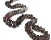 Smoky Quartz Mala Beads Necklace, Botswana Agate Mala Beads Necklace, Labradorite Mala Beads Necklace, Gemstone Necklace, Meditation, Yoga,