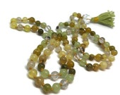 Gold Mala / Green Mala / Onyx Mala / Opal / Jade / Quartz / Rutilated Quartz / Phantom Quartz / Japa / Yoga / Kundalini / Meditation / Boho