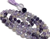 Amethyst mala, Ametrine mala, Chevron, Purple Mala, Addiction, Recovery, Lavender, Anxiety, Spiritual, Kundalini Yoga Meditation, Japa, Pray
