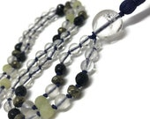 Quartz Mala, Blue Goldstone Mala, Jade Mala, Pyrite Mala, Prayer Beads, Japa Mala, Mala Beads, Yoga, Meditation, Reiki, Quartz Necklace