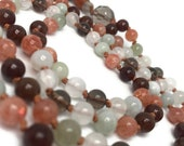 Selenite Mala Beads Necklace, Yoga Jewelry, Japa, Meditation, Sunstone Mala Necklace, Garnet Mala Necklace, Jade Mala Necklace, Smoky Quartz