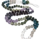 Iolite Mala Bead Necklace, Garnet, Amethyst, Jade, Prehnite, Moonstone, Apatite, Japa, Prayer Beads, Yoga, Meditation, Gift, Gemstones,