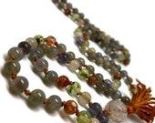 Gemstone mala necklace for yoga and meditation, Labradorite Mala Beads, Japa Kundalini Meditation Yoga Boho Bohemian