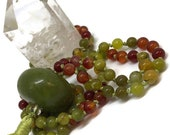 Jade Mala | Carnelian Mala | Opal Mala | Japa | Meditation Beads | Yoga Jewelry | Green Necklace | Prayer Beads | Jade Necklace | Orange
