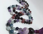 Amethyst Mala / Iolite Mala /  Aquamarine Mala / Ruby Mala / Garnet Mala / Prayer Beads / Yoga Necklace / Meditation