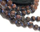 108 Mala Bead Necklace | Leopardskin Jasper Mala Necklace | Sunstone Mala | Iolite Mala | Meditation Beads | Garnet Necklace | Gemstone Mala