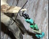 Magnesite Earrings, Green...