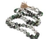 Chrysoprase Mala Bead Necklace | Chrysoprase Mala Beads | Chrysoprase Necklace | Moonstone Mala | Moonstone Necklace | Yoga | Meditation